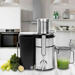 Whole Fruit Juice Press Large Tube Centrifugal Juicer 1000W Machine Vegetable