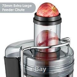 Whole Fruit Vegetable Juicer Heavy Duty Juice Machine Compact Powerful 1000W