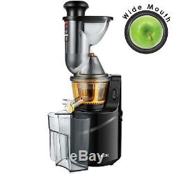 Wide Mouth Juicer Fruit Vegetable Slow Masticating Juicer Juice Extractor