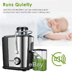 Wide Mouth Juicer Juice Extractor For Whole Vegetables And Fruits Anti-Drip Food