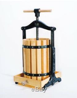 Yakima Tabletop Fruit Wine Cider Grape Pear Berries Juicer Press 1.75 Gallon